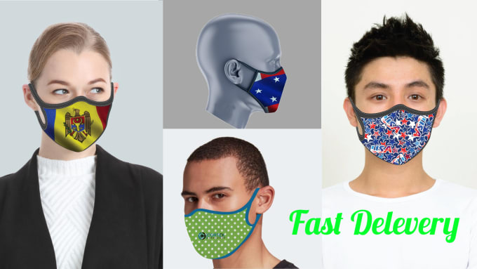 Design face medical fashion mask in 24 hours by Shahadot247