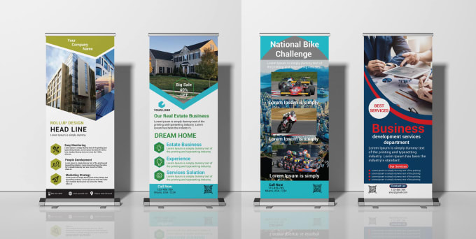 Professionally roll up banner and rack card design by Shahadot247